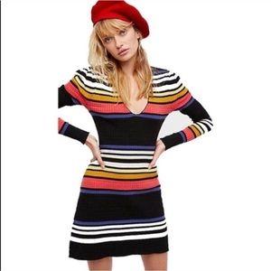 NWT Free People Gidget striped sweater dress